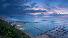 Merewether Morning (Peter Knott) Tags: panorama seascape newcastle australia olympus gitzo oceanbaths leefilters