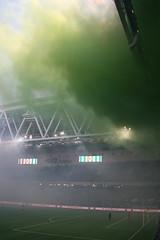 2015-04-13 Hammarby - Djurgården 2-1069 (HAKANU) Tags: sweden stockholm derby tele2 tele2arena arena söder södermalm hammarby bajen hammarbyfotboll football match spectators fans djurgården dif hif bengal bengals smoke colors colours green white greenwhite nyasöderstadion söderstadion south southern söderbröder bajenfans
