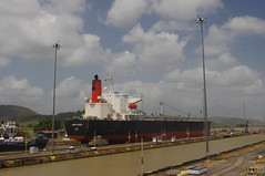 Panama Canal, Panama (ARNAUD_Z_VOYAGE) Tags: ocean city sea cloud color colour colors beautiful clouds america landscape boat canal site amazing dock ship colours view traffic pacific capital centro central atlantic international american maritime huge locks caribbean panama region trade department province miraflores active centrale isthmus