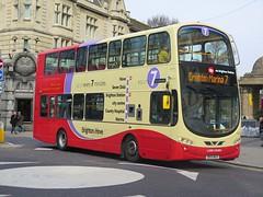 Brighton & Hove 440 (BK10MGV) - 13-03-15 (peter_b2008) Tags: buses volvo transport wright hybrid 440 coaches brightonhove wrightbus buspictures goaheadgroup eclipsegemini2 bk10mgv b5lh