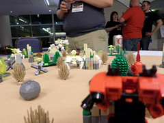 MFZ at Adepticon (Red_Robot_XIII) Tags: game mobile robot lego frame zero mecha mech adepticon microscale mfz mf0