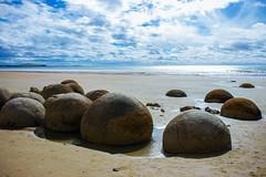 Moeraki Boulders (michaeljaredphotography) Tags: new travel sea clouds canon eos boulders zealand moeraki 18mm 600d