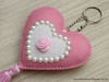CHAVEIRO ♥ (M.Kuwahara) Tags: love heart handmade artesanato felt feltro chaveiro marciakuwahara
