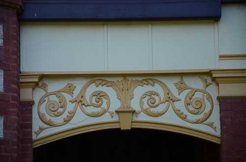 DSC_2786 detail of arch above front entrance, Taylor House, federation style residence at 9 Brougham Place, North Adelaide