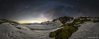 En Madrid si hay estrellas! (6) - Vía láctea de Invierno sobre el Parque Nacional de la Sierra de Guadarrama. Laguna de Peñalara