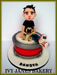 DRUM (DAKOTA) (Ivy Jane's Bakery) Tags: birthday dog cake puppy cool drum pug 18th dakota