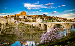 Toledo. Spain (J Alema) Tags: sunset espaa rio river puente atardecer spain san martin toledo tajo