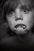 Unnar (Dalla*) Tags: boy portrait white kid child play beware teeth balck playfulness wampire wwwdallais