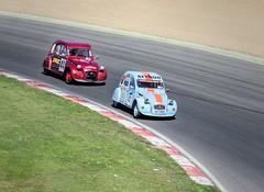 2CV's 44.43 (Jez22) Tags: auto old copyright car race speed vintage french fun automobile funny track famous citroen fast racing retro circuit gravel worldcars jeremysage tinsnailbrandshatch