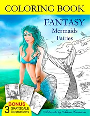 COLORING BOOK Fantasy Mermaids & Fairies: Amazing coloring book for all ages.