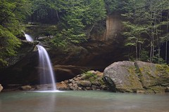 Lower falls along the Old Mans Cave trail, Hocking Hills State Park Ohio (jkrieger84) Tags: ohio nature water landscape waterfall nikon falls lowerfalls d600 oldmanscave