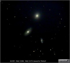 Messier 105, NGC 3384 and NGC 3373 Galaxy Triplet in Leo (LeisurelyScientist.com) Tags: sky night stars spiral timelapse leo space cluster science galaxy astrophotography lightyear astronomy nightsky stacking triplet cosmos dss constellation deepspace cosmology meade galactic elliptical astronomer lx90 deepsky m105 ngc3384 cgem canon6d tomwildoner leisurelyscientist leisurelyscientistcom ngc3373