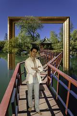 Sbastien - nouvelle srie (Iwokrama) Tags: shirtless photoshop sebastian bare pont torso paysage youngman malemodel rve