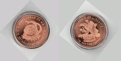 copper dollar (Merkwrdiglieben) Tags: 1 coin coins oz dollar copper pure ounce