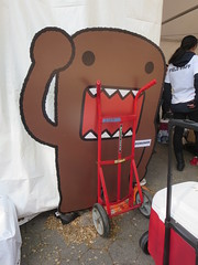 Domo the mascot of NHK World TV at Japan Day in the Bandshell area of Central Park, New York City, Manhattan Island, USA (RYANISLAND) Tags: nyc newyorkcity pink flowers ny newyork flower japan japanese spring centralpark manhattan cherryblossom  sakura cherryblossoms newyorkstate matsuri japaneseculture nys springtime jpop sakuramatsuri  cherryblossomfestival centralparknyc manhattanisland japanday welcomespring japandaycentralpark peakbloom japandaynyc japanday2016