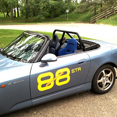 seat1_edited (Grant.C) Tags: blue bar honda stripes vinyl pole fender numbers roll suzuka position s2000 pp poleposition rollbar recaro ap1 rsg
