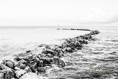 Nightcliff (stormgirl1960) Tags: sky blackandwhite beach water monochrome clouds boats sand rocks australia darwin marker channel northernterritory nightcliff