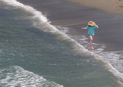 Summer Solstice (Room With A View) Tags: ocean woman beach hat turquoise caspar odc