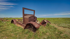 Not Buying It (Wayne Stadler Photography) Tags: canada cars abandoned rural rust farm exploring rusty alberta weathered trucks aged discarded exploration prairies derelict automobiles rustographer travelvehicles