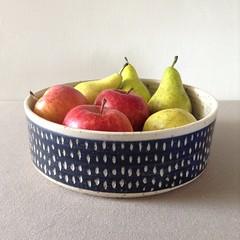 Fruit Bowl Speckle Blue (Jude Allman) Tags: fruit ceramic ceramics crafts craft bowl pot pots jude pottery bowls