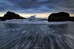 Sea Spray @ Wai'ao (JoshuaSYChang) Tags: sunset sea water taiwan reef waiao