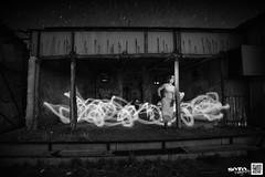 Theater of dreams... (vivelaruta66.com) Tags: longexposure blackandwhite bw lightpainting byn blancoynegro monochrome dark model nocturna almeria nocturne exodus largaexposicion filminglocation decorados