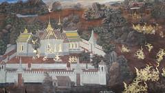 Royal Palace Complex Bangkok (Ankur P) Tags: thailand bangkok royal palace grandpalace royalpalace ramayana thaipalace