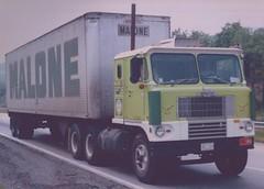 White 7000 Malone (PAcarhauler) Tags: white truck semi trailer coe cabover