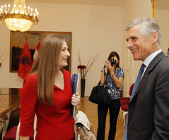 Generalsekretär Linhart trifft albanische Ministerin für europäische Integration