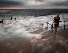 Should I ??????? (tara.bowen) Tags: storm beach pool clouds sunrise australia nsw avalon tidalpool hightide rockpool