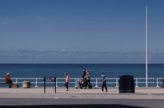 Promenade (shawnraisin d+p) Tags: ocean sea beach wales fun coast seaside mood westwales place unitedkingdom cymru relaxing aberystwyth gb ceredigion shawnwhite fujifilmxt10