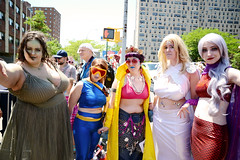 Mermaid Parade 2016 (Samicorn) Tags: nyc newyorkcity costumes summer sunshine brooklyn coneyisland nikon colorful cosplay jubilee makeup cyclops parade xmen wigs gothamist mermaid mermaidparade coneyislandmermaidparade emmafrost