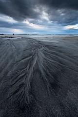 Final Patterns (Danil) Tags: ocean sky beach water norway contrast dark flow sand mood pattern darkness natural daniel horizon atlantic lofoten bosma skagsanden