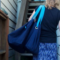 Ikea bag lady (foxthreads) Tags: beach bag sewing gym tote