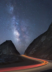 Pacific Coast Highway (Eric Zumstein) Tags: california longexposure night stars us unitedstates malibu pch milkyway