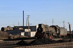 I_B_IMG_7408 (florian_grupp) Tags: china railroad train landscape asia mine desert muslim railway steam xinjiang mikado locomotive ore js steamlocomotive 282 opencastmine yamansu