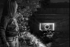 #steelwoolspinning brings out the #child in #everyone  (T29sra) Tags: nightphotography blackandwhite scotland highlands child everyone steelwoolspinning