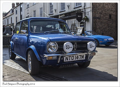 Mini NTO 147M (Paul Simpson Photography) Tags: classic car spring classiccar mini vehicle british bluecar classicmini motorcar bluemini brigg photosof imageof photoof imagesof sonya77 paulsimpsonphotography borderclassiccarrally may2016 mini13gt