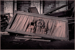 Scranton Lace Factory (ronnymariano) Tags: abandoned broken monochrome sepia us unitedstates box pennsylvania decay scranton exploration urbex 2016 abandonedplaces scrantonlace abandonedamerica bnwbutnot