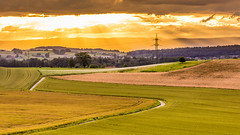 Fribourg view (Jeton Bajrami) Tags: view switzerland suisse fribourg freiburg cloudy clouds cloud sunny sun green yellow orange sunset art 2016 perfect sony alpha a77 alpha77 1650mm extrieur nuage paysage champ ciel