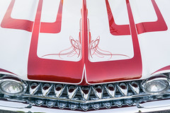 American Badass (Jonathan Salmi) Tags: red white hot classic cars car muscle metallic automotive hotrod rod custom pinstripe musclecar oldsmobile pinstriping