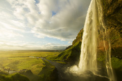 Seljalandsfoss (Matt Champlin) Tags: seljalandsfoss water waterfalls iceland camp camping sunset light life random exotic beautiful torrent rain summer mist misty canon 2016 cliff towering thunder