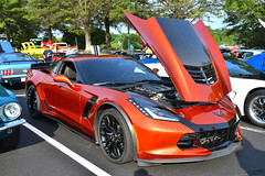 Corvette Stingray Z06 (Thumpr455) Tags: july 2016 upstate carscoffee greenville southcarolina sc auto car automobile worldcars nikon d800 afnikkor3570mmf28d corvette stingray chevy chevrolet orange z06 supercharged