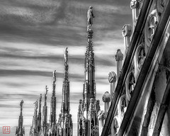 The Watch (Bill Thoo) Tags: duomo milan cathedral milano lombardy italy statue stone architecture surreal medieval gothic travel monochrome city urban blackandwhite duomomilano milancathedral sony a900 alpha900 2470mm