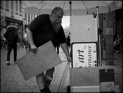 Lbeck (D) - 2016/07/08 (Geert Haelterman) Tags: geert haelterman streetphotography straatfotografie photographiederue photoderue fotografadecalle fotografiadistrada strassenfotografie candid streetshot monochrome black white blackandwhite zwart wit duitsland germany lbeck olympus omdem10