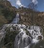 Orbaneja del Castillo - Burgos (Panoramica de dos fotos) (Urugallu) Tags: españa rio canon agua flickr pueblo ebro burgos arroyo 70d castillaleon joserodriguez urugallu sedado