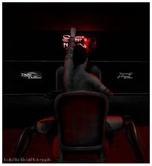 Midnighttornado - Midnight Sinner (Eveila RavenWinter - (Eveila.Blackheart)) Tags: red female club night dark photography monochromatic event secondlife scheme blackheart burlesque whimsical sinners eveila