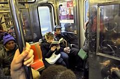 Subway 0012 (XuKin) Tags: dsc0012 nikon coolpixa nyc newyorkcity street rain march subway mta chanel sony marcjacobs mingtsub hcspsub nosmartphone paperbook michaelkoors curatusub spcolsub spub spcandsub winogsub mingtacc apfstreetsub johnupdike novel read 150409860204 sphoto mtsub mtaccp