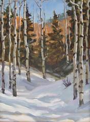 Aspen in Snow   12 x 9