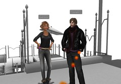 2 machinima pioneers (Chantal Harvey) Tags: sl secondlife virtualreality machinima animation chantalharvey ionoallen